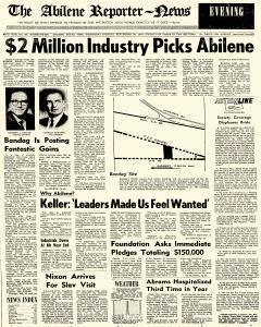 Abilene Reporter News, September 30, 1970, Page 1