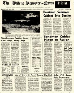 Abilene Reporter News, August 06, 1974, Page 1