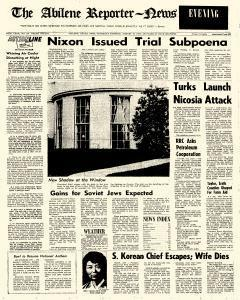 Abilene Reporter News, August 15, 1974, Page 1