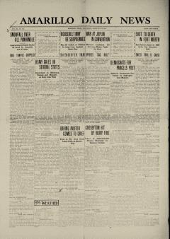 Amarillo Daily News, February 21, 1912, Page 1