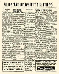 Brookshire Times, March 09, 1945, Page 1