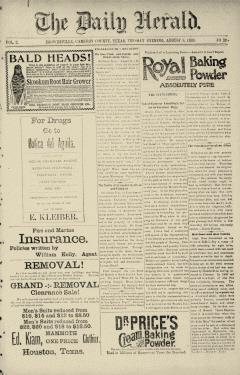 Brownsville Daily Herald, August 08, 1893, Page 1