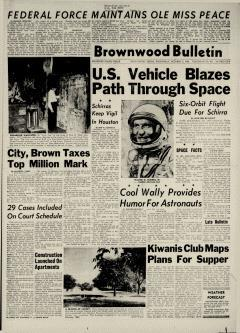 Brownwood Bulletin, October 03, 1962, Page 1
