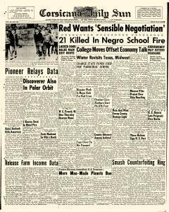 Corsicana Daily Sun newspaper archives