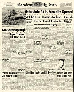 Corsicana Daily Sun, September 30, 1959, Page 1