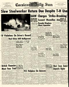 Corsicana Daily Sun, October 10, 1959, Page 1
