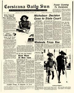Corsicana Daily Sun, October 05, 1972, Page 1