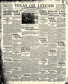 Texas Oil Ledger, July 17, 1920, Page 1
