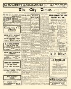 City Times, January 29, 1916, Page 1