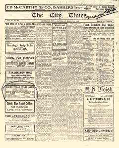 City Times, March 18, 1916, Page 1