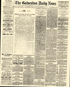 Galveston Daily News, October 20, 1885, Page 1
