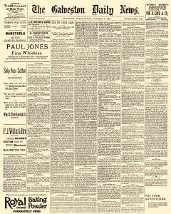 Galveston Daily News, October 07, 1892, Page 1