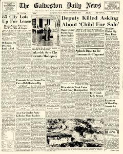 Galveston Daily News, February 28, 1958, Page 1