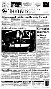 Galveston Daily News, July 09, 2001, Page 1