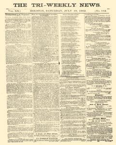 Tri Weekly News, July 19, 1862, Page 1