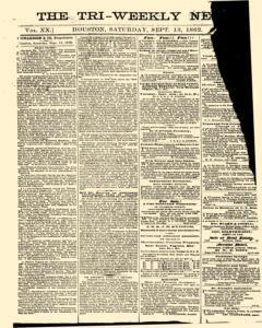 Tri Weekly News, September 13, 1862, Page 1
