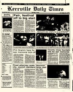 Kerrville Daily Times, May 26, 1991, Page 1
