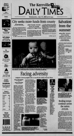 Kerrville Daily Times, July 19, 2006, Page 1