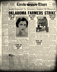 Laredo Times, September 22, 1932, Page 1