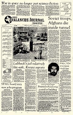 Avalanche Journal, November 09, 1982, Page 1