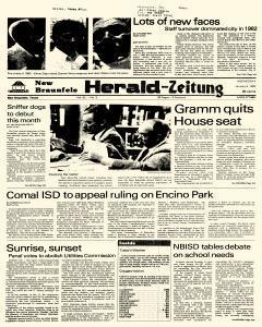 New Braunfels Herald Zeitung, January 05, 1983, Page 1
