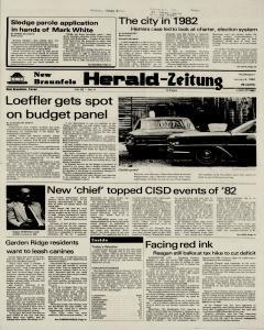 New Braunfels Herald Zeitung, January 06, 1983, Page 1