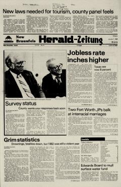 New Braunfels Herald Zeitung, January 07, 1983, Page 1