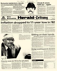 New Braunfels Herald Zeitung, January 14, 1983, Page 1