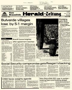 New Braunfels Herald Zeitung, January 16, 1983, Page 1