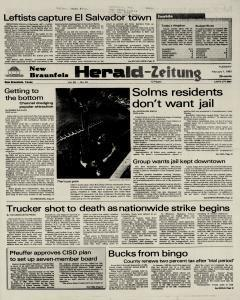 New Braunfels Herald Zeitung, February 01, 1983, Page 1