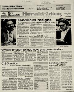 New Braunfels Herald Zeitung, February 16, 1983, Page 1