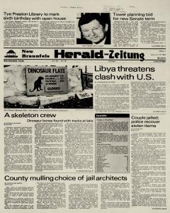 New Braunfels Herald Zeitung, February 18, 1983, Page 1