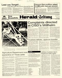 New Braunfels Herald Zeitung, May 25, 1983, Page 1