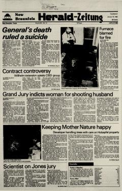 New Braunfels Herald Zeitung, January 19, 1984, Page 1