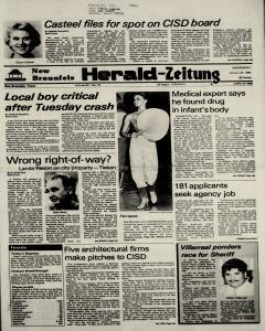 New Braunfels Herald Zeitung, January 25, 1984, Page 1