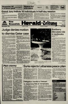 New Braunfels Herald Zeitung, February 19, 1984, Page 1