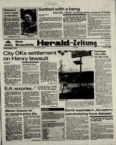 New Braunfels Herald Zeitung, February 28, 1984, Page 1