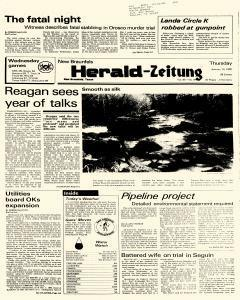 New Braunfels Herald Zeitung, January 10, 1985, Page 1
