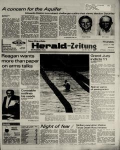 New Braunfels Herald Zeitung, January 17, 1985, Page 1