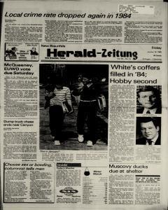 New Braunfels Herald Zeitung, January 18, 1985, Page 1
