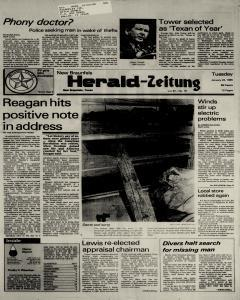 New Braunfels Herald Zeitung, January 22, 1985, Page 1