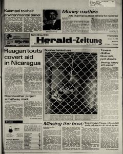 New Braunfels Herald Zeitung, January 24, 1985, Page 1