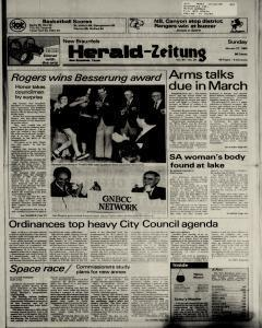 New Braunfels Herald Zeitung, January 27, 1985, Page 1