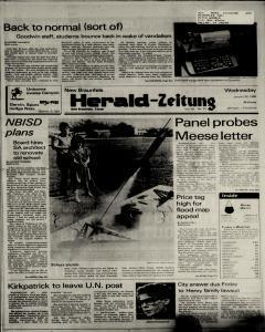 New Braunfels Herald Zeitung, January 30, 1985, Page 1