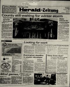 New Braunfels Herald Zeitung, February 01, 1985, Page 1