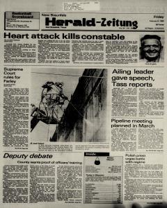 New Braunfels Herald Zeitung, February 08, 1985, Page 1