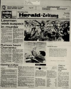New Braunfels Herald Zeitung, February 10, 1985, Page 1