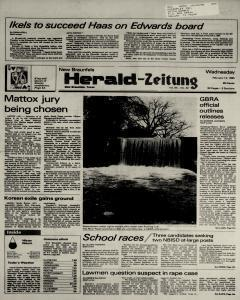 New Braunfels Herald Zeitung, February 13, 1985, Page 1
