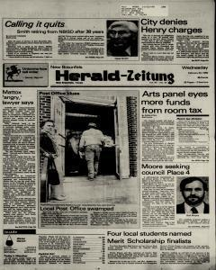 New Braunfels Herald Zeitung, February 20, 1985, Page 1
