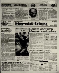 New Braunfels Herald Zeitung, February 24, 1985, Page 1